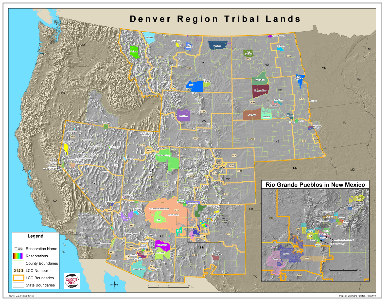 GIS Portfolio Map Gallery - Map of us tribal lands